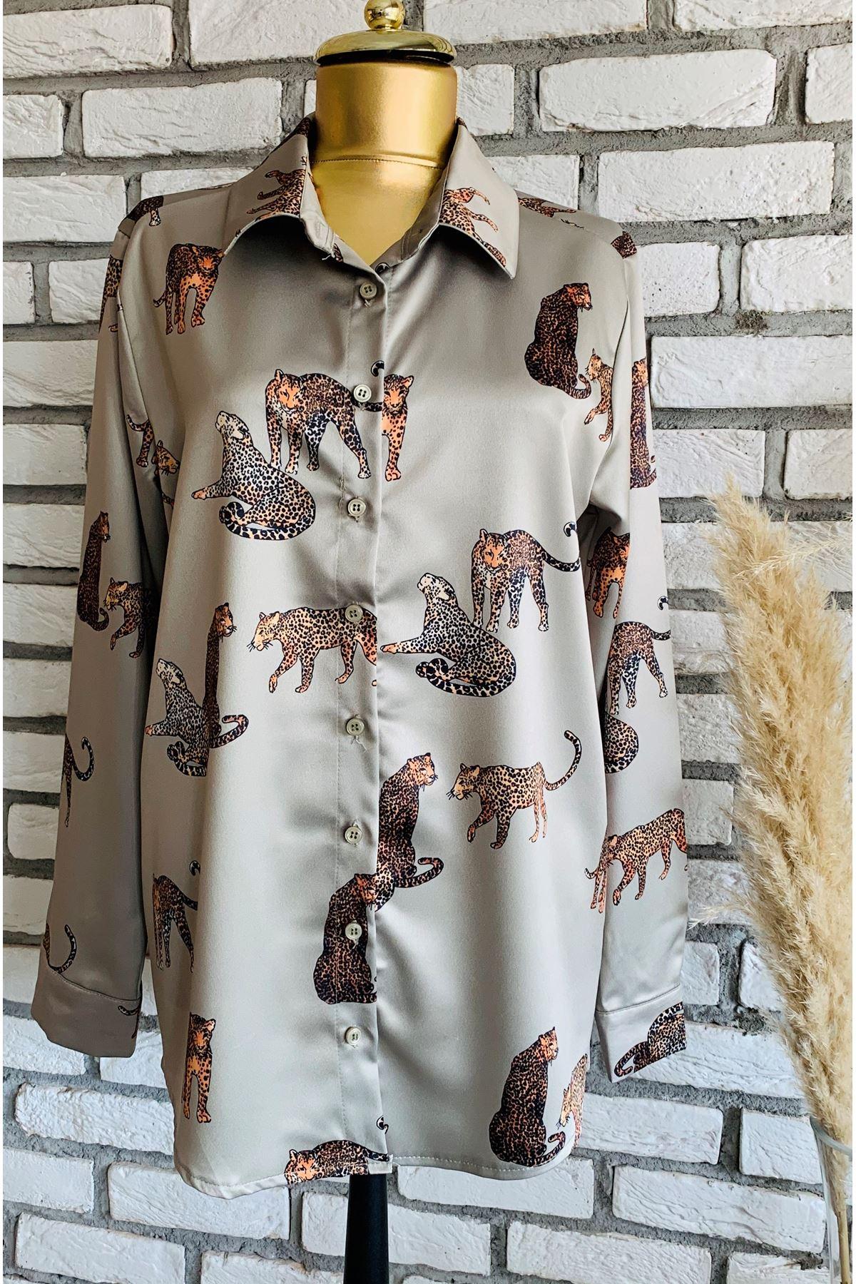 Safari Desen Haki Gömlek