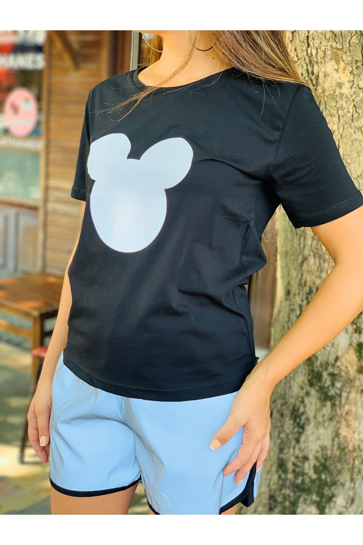 Mickey reflektör şortlu takım