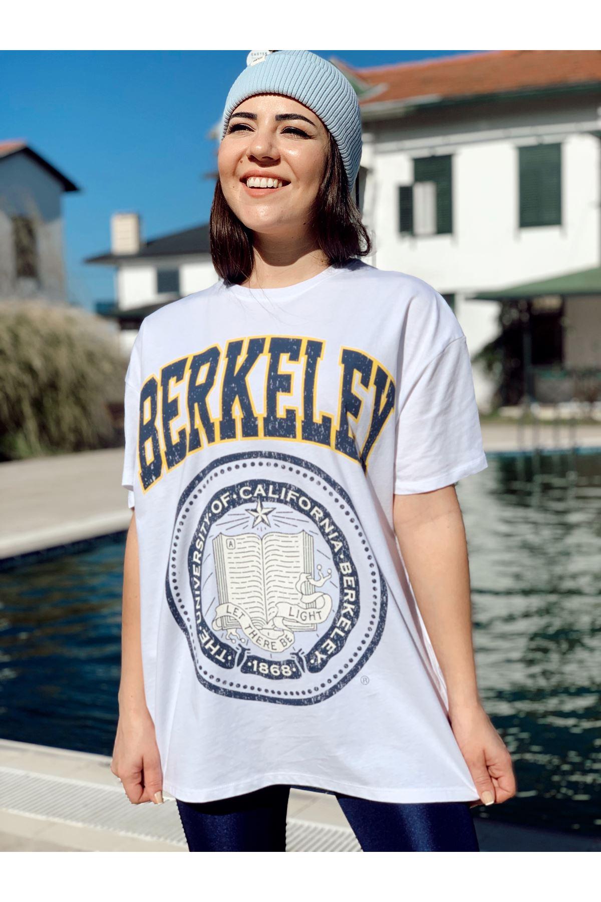 Beyaz Berkeley Baskılı Tshirt
