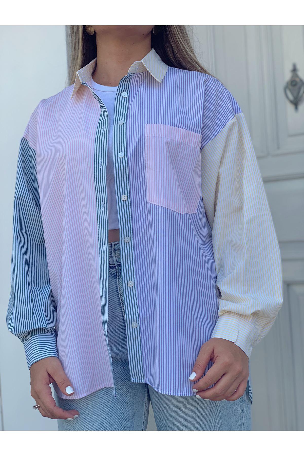 Renkli Garnili Gömlek