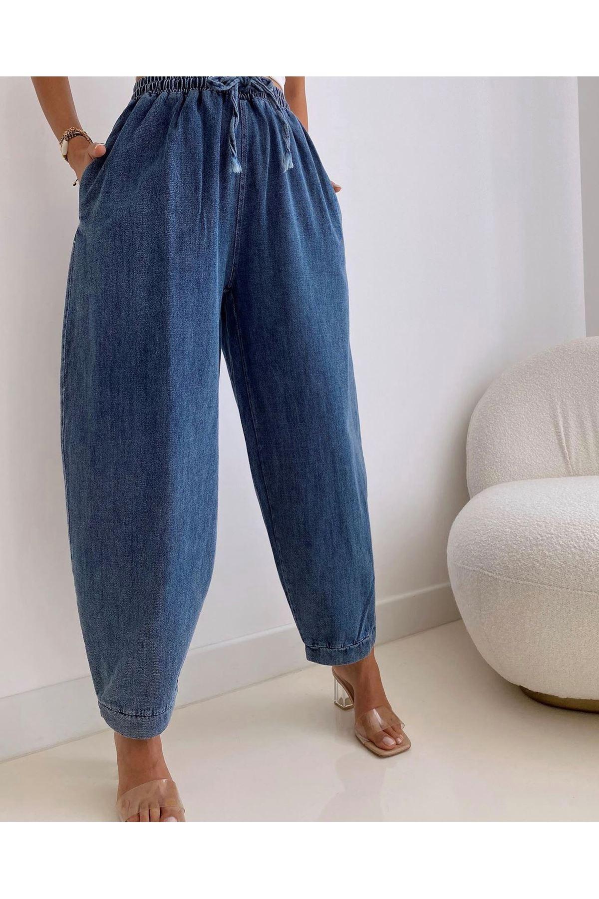 Denim Şalvar Model Pantolon